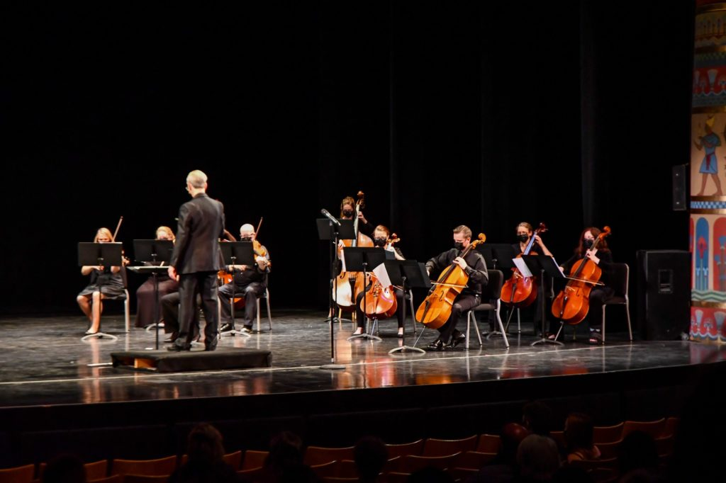 Cellos and Violins are part of the the Chamber Orchestra Ogden's string orchestra, with 22 stringed instruments. (Nikki Dorber / The Signpost)
