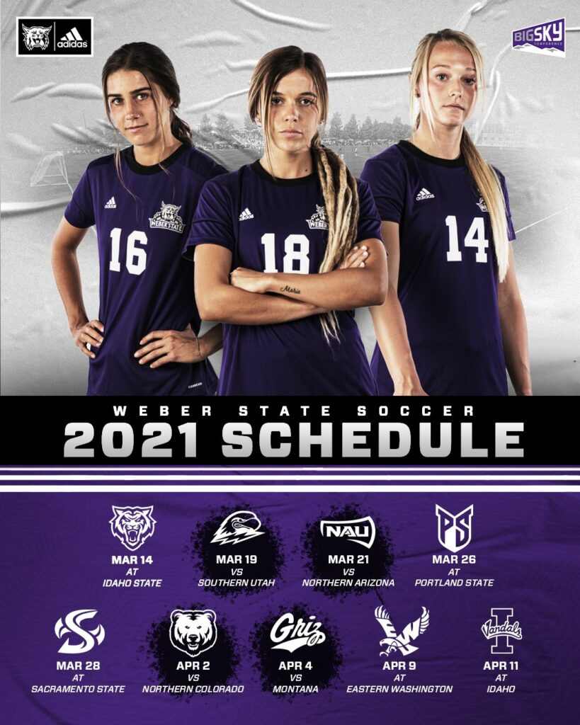 The Women's Soccer Schedule was announced by Big Sky for 2021.