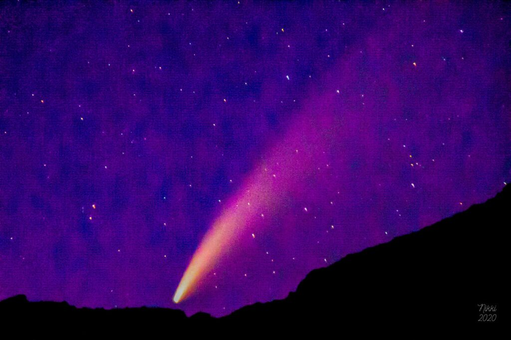 Neowise, a comet, was found by the Hubble Station.  It was visible to earth for approximately 3 months.  This will not occur again for over 6,000 years.  (Nikki Dorber / The Signpost)