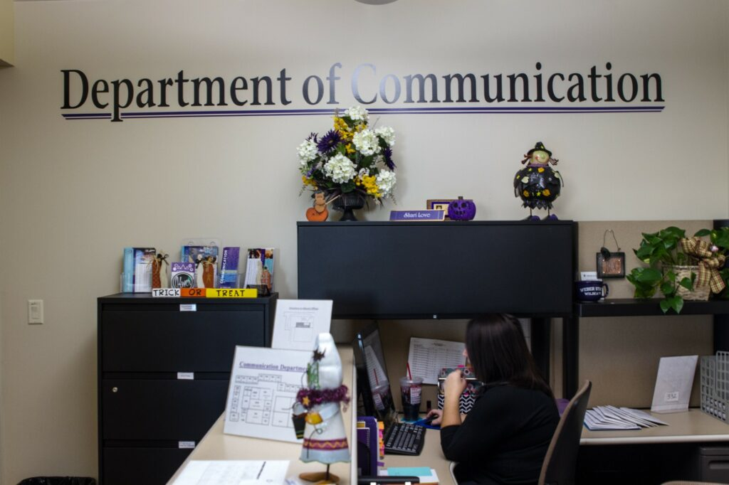 The Department of Communication office. (Sara Parker / The Signpost)