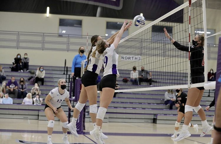 On Jan. 22 and 23 the Wildcats' went head-to-head in a volleyball tournament with Eastern Washington. (Weber State Athletics)