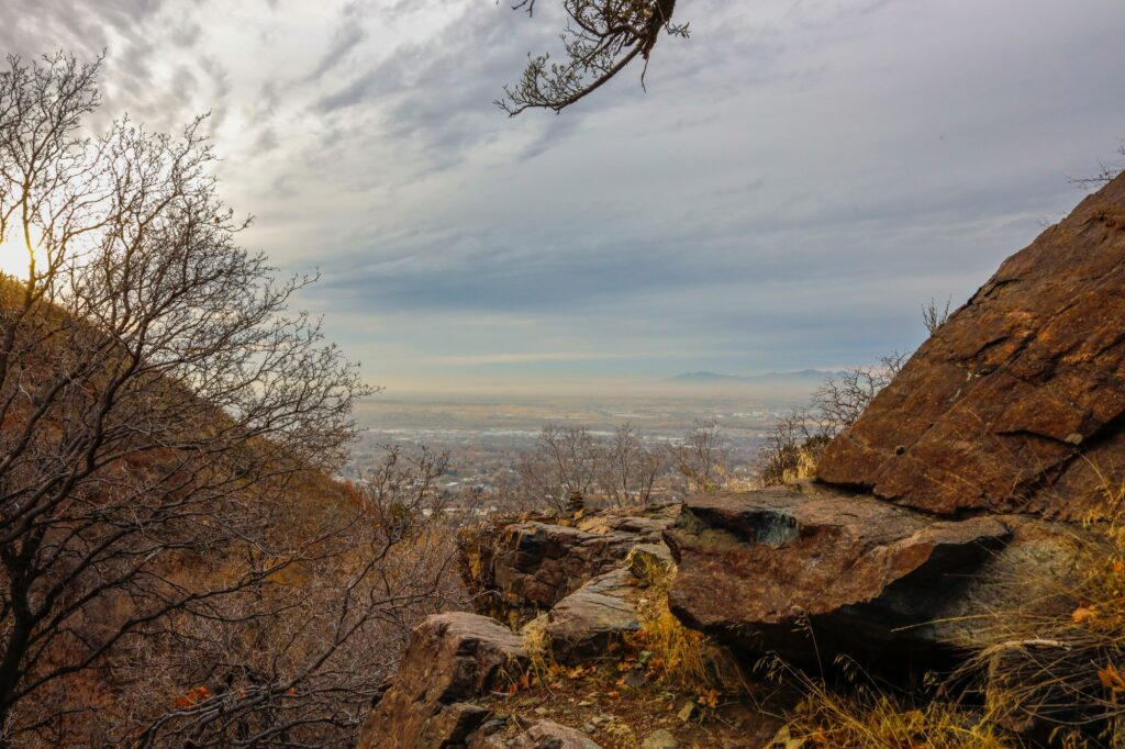 A view of Ogden, Utah, from the Waterfall Canyon Trail (Robert Lewis / The Signpost)
