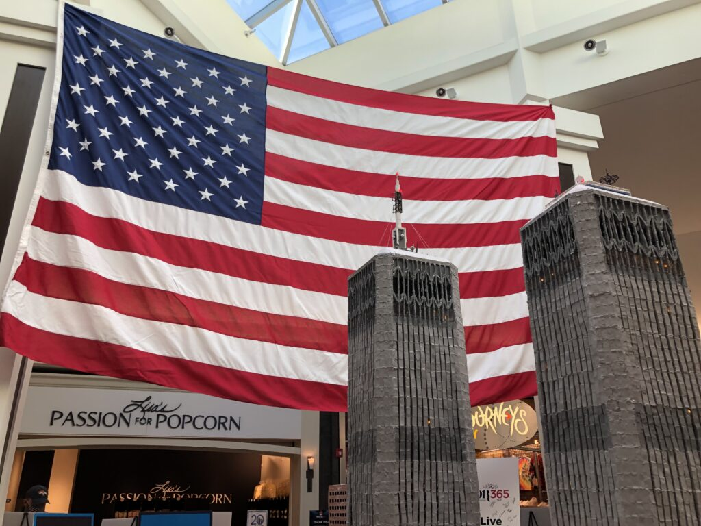 Honor365's traveling exhibit commemorating the 20th anniversary of 9/11 recently arrived at the Newgate Mall in Ogden. (Rebecca Gonzales/The Signpost)