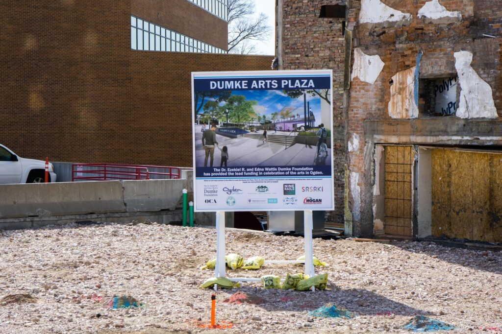 The Dumke Arts Plaza will help the arts community by bringing art to the historic streets of Ogden. (ISRAEL CAMPA/The SIgnpost)