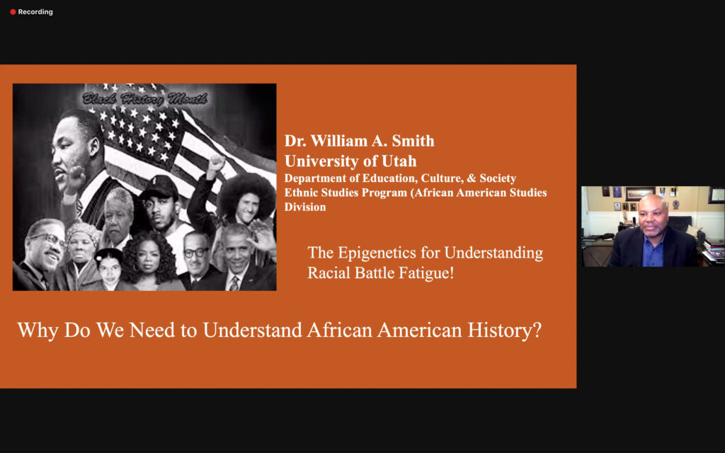 On Feb 25, 2021, University of Utah professor, William Smith, gave a presentation to Weber State on the education of Black History and why it is needed in society today. (ISRAEL CAMPA/The Signpost)