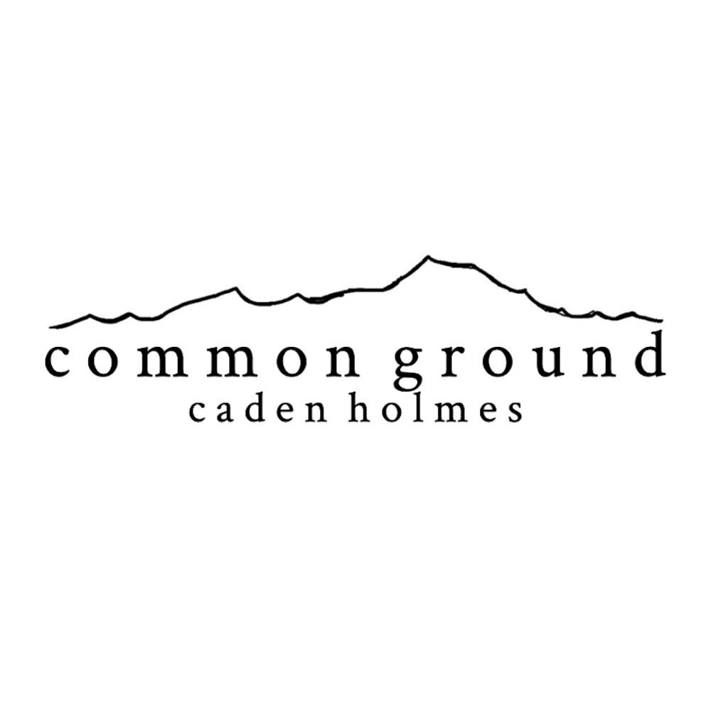 """The """"Commonground"""" merchandise graphic represents the inspiration of the Ogden mountain ranges behind Caden Holmes&squot; music."""