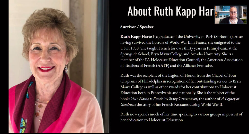 Adrienne Andrews, AVP for Diversity & Chief Diversity Officer at Weber State University offers a brief introduction on Ruth Kapp Hartz, Thursday, April 8th, 2021. (Brooklynn Kilgore/The Signpost)