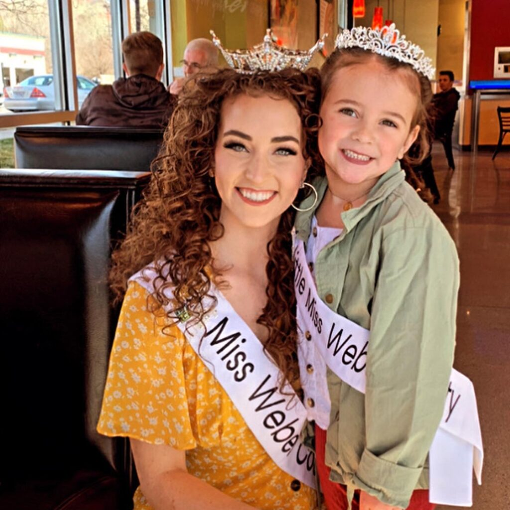 Laing with her Little Miss Weber County counterpart.