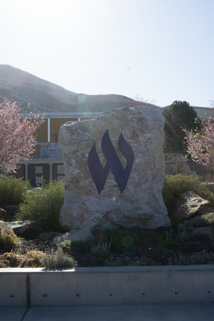 The flaming W stands for more than Weber State for me. It stands for the hard work and dedication I have put in for graduation. (THE SIGNPOST/ ISRAEL CAMPA)
