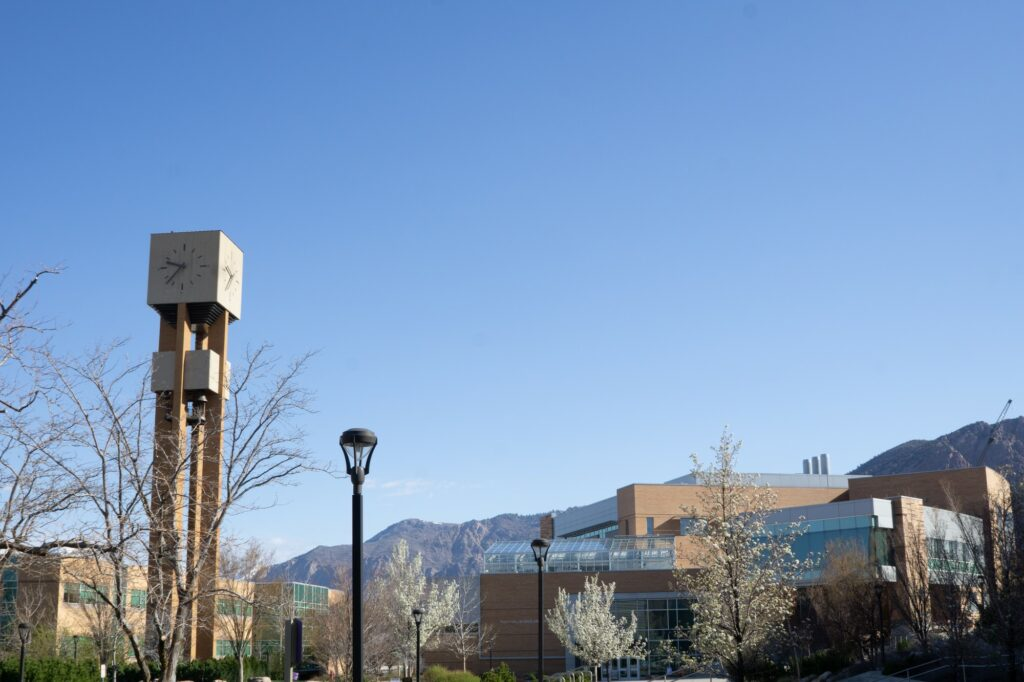 The bell tower stands tall among the trees and mountains on campus (THE SIGNPOST/ ISRAEL CAMPA)