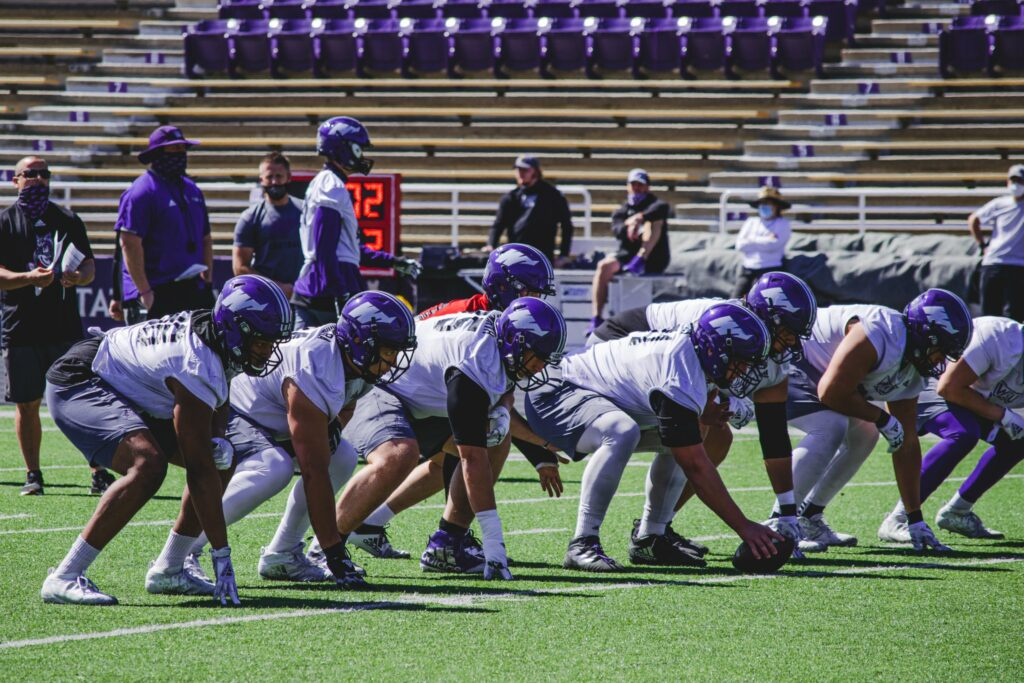 The Wildcats offense prepares to face Idaho State in the last game of the regular season at Stewart Stadium.