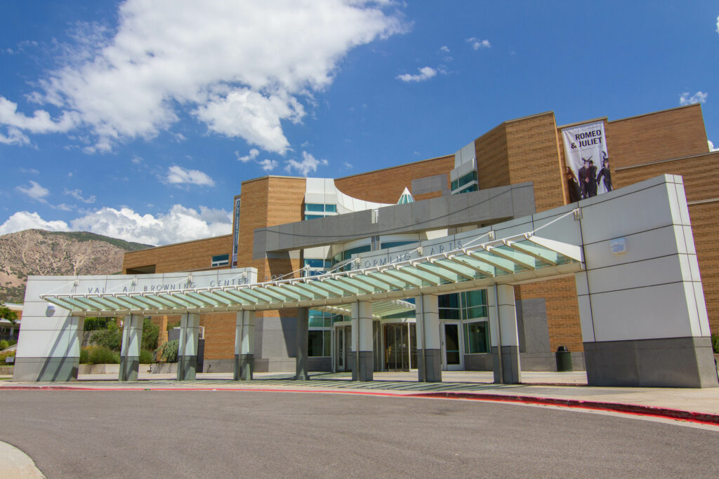 The Browning Center is located on Weber States main campus in Ogden UT.