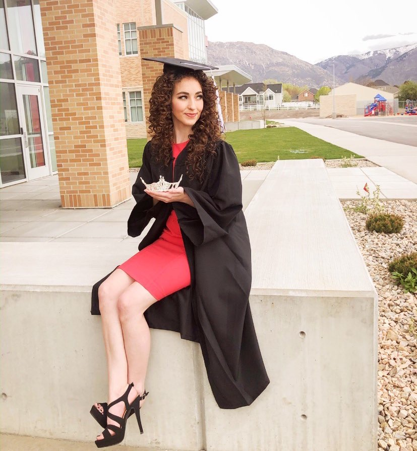 Scholarships from the Miss America Organization helped Laing graduate with her Bachelor's degree in elementary education.