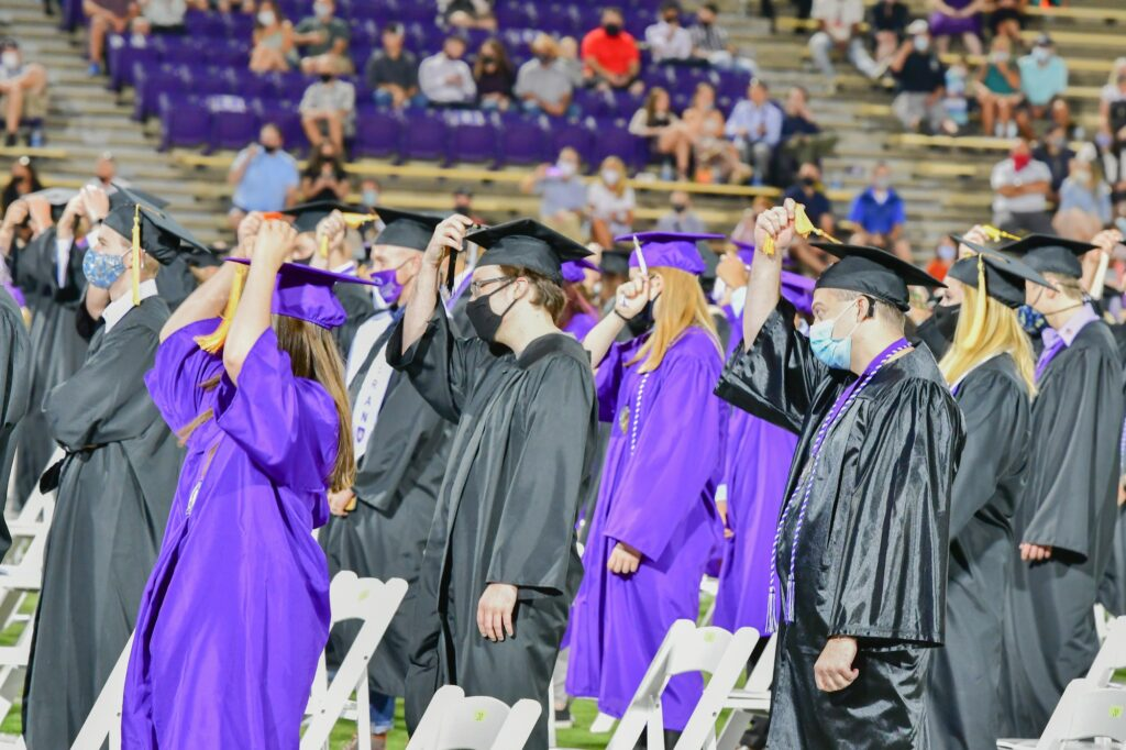Graduates move the tassel from left to right as they celebrate their hard work.  (Nikki Dorber / The Signpost
