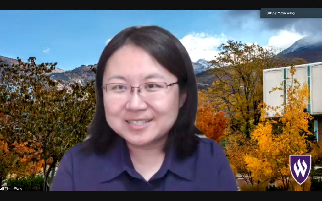 Dr. Yimin Wang is the current Senior International Officer and is setting up these lectures to help inform the Weber State community about Higher Education. (THE SIGNPOST/ ISRAEL CAMPA)