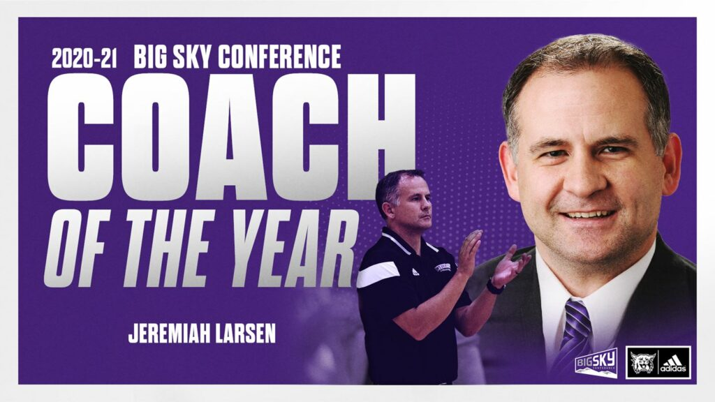 Jeremiah Larsen was deemed Coach of the Year for the 2020-21 school year at the Big Sky Conference.