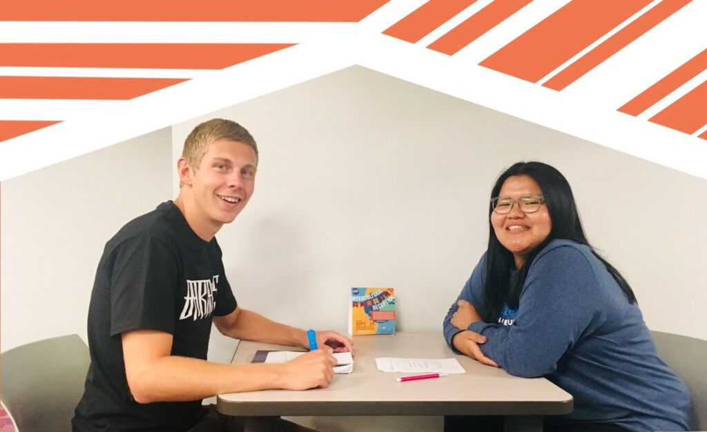 Peer mentors help answer questions and guide their mentees through the college experience.
