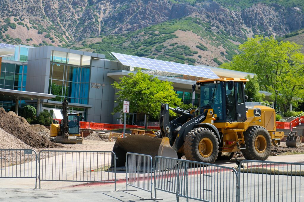 Construction has begun in front of the Shepherd Union as an update of the BRT.