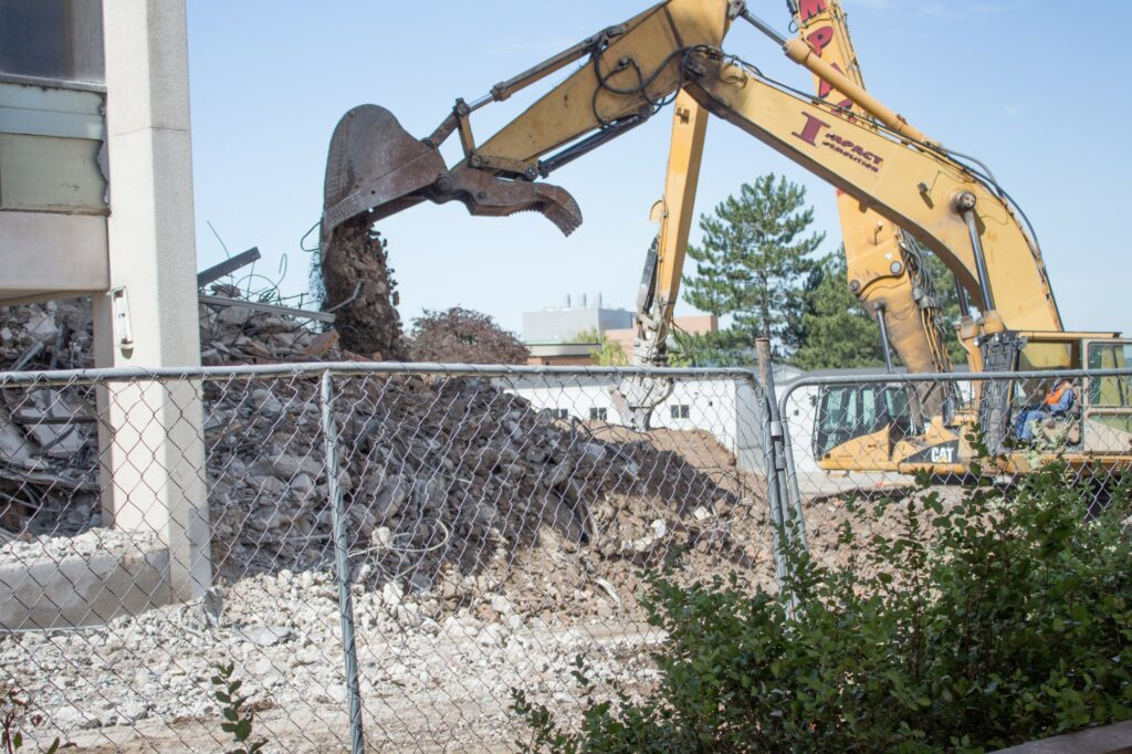 The Science Lab was demolished in Summer of 2019, two years before the valve complications.  (Robert Lewis / The Signpost)