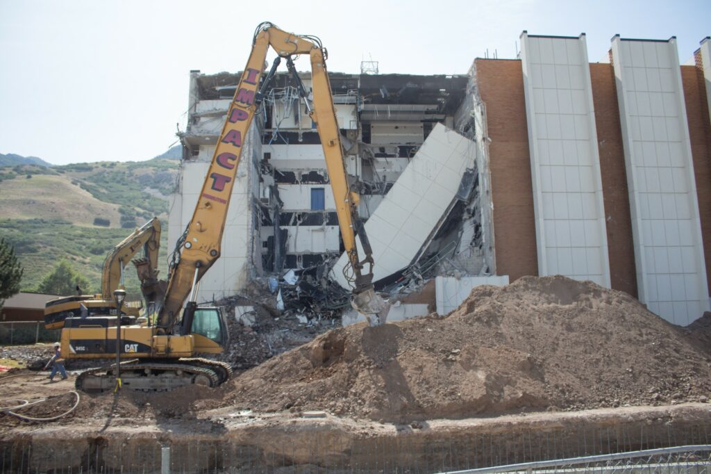 The Science Lab demolition began in Summer of 2019. (Robert Lewis / The Signpost)