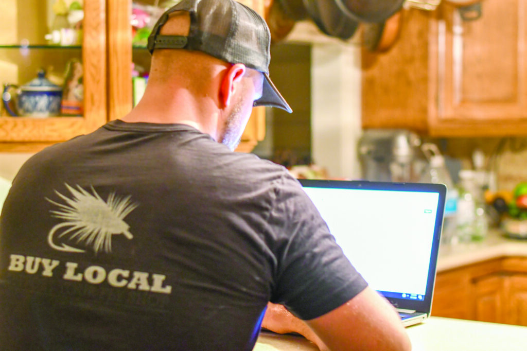 Due to Covid-19 students and employees, such as David Dorber, find themselves working and going to school remotely.  (Nikki Dorber / The Signpost)
