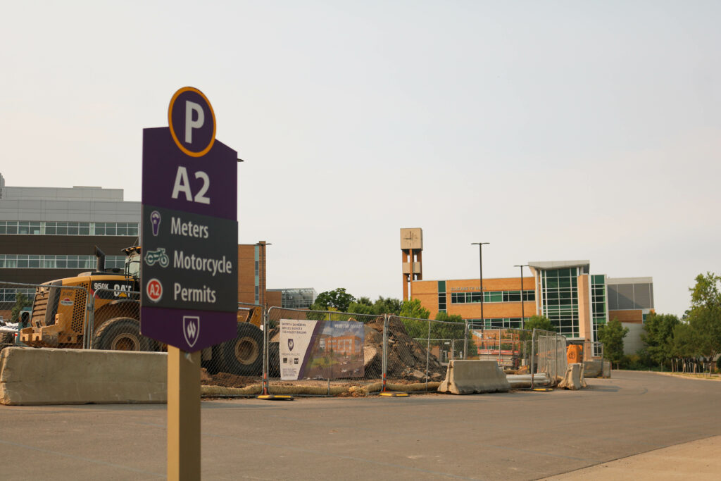 The A2 parking lot is conveniently located behind Tracy and Elizabeth Hall. (Bella Torres / The Signpost)