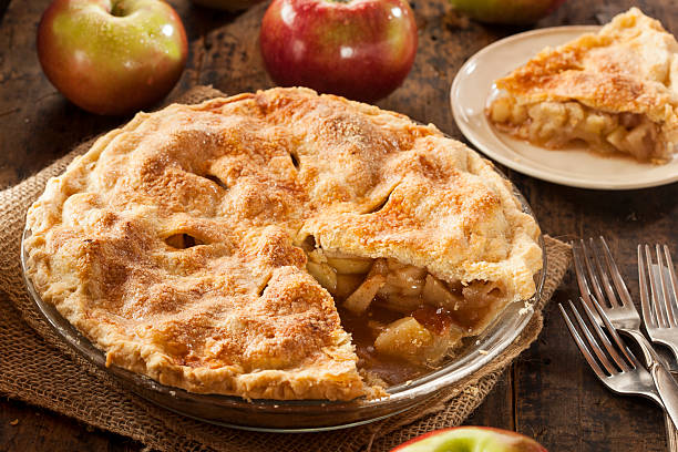 A photo of apple pie, one of the many pies to be enjoyed in honor of Pie and Beer day.