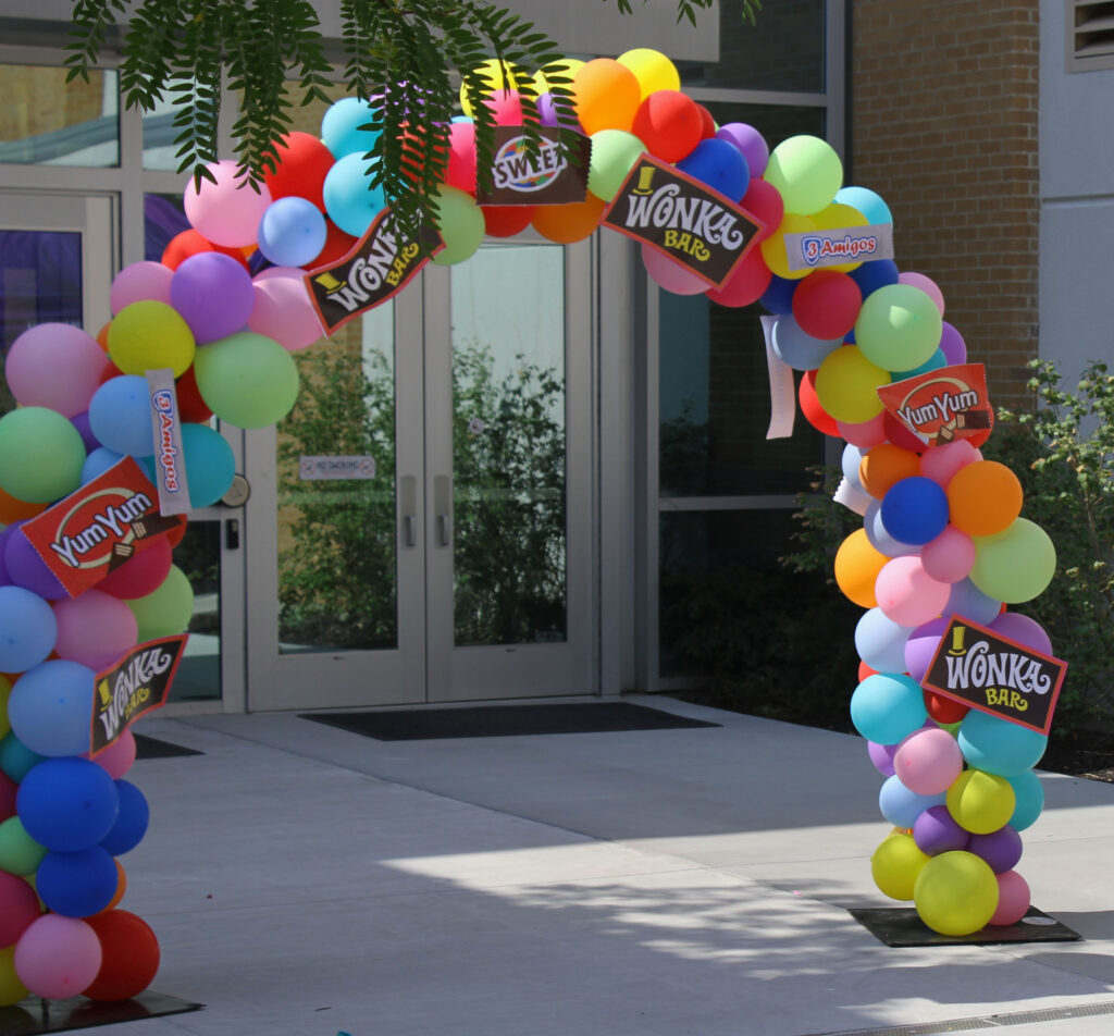 2021's Block Party was a Willy Wonka theme, which was shown at the entrance of the event.